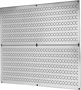 2 Metal Peg Board Organizer Rack Wall Control Garage Storage Galvanized Steel