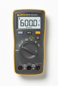 Fluke 107 Palm sized Digital Multimeter Comes With Tl75 Hard Point Test Lead