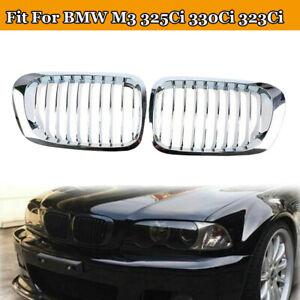 Chrome Front Kidney Grill Grilles For Bmw M3 325ci 330ci 323ci 2001 2006 2 Door