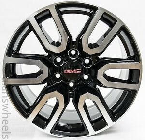 Gmc Sierra Yukon Denali Black Machined Replica At4 20wheels Rims Lugs Freeship