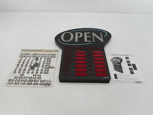 Newon 6093 Led Lighted Business open Sign 23 4 X 20 4 Red black