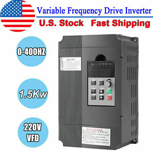 Ac 220v 1 5kw Vfd Inverter Frequency Converter Single Phase To 3 Phase Output Us
