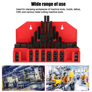 New 58 Pc Clamping Kit 7 16in T slot 3 8 16 Stud Mill Machinist Set Universal Us