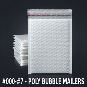 Any Size Poly Bubble Mailers Shipping Mailing Padded Bags Envelopes 25 2000