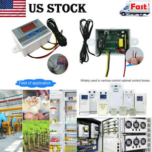 Us Incubator Temperature Digital Controller Thermostat Control With Switch Probe