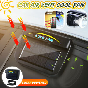 Car Window Air Vent Cooling Fan Solar Sun Powered System Cooler Radiator Us