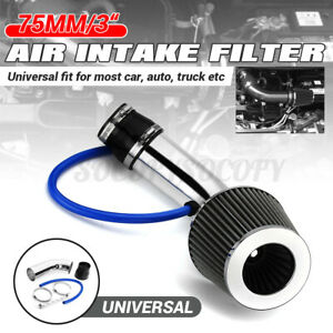 3 Universal Car Cold Air Intake Filter Aluminum Induction Kit Pipe Hose System