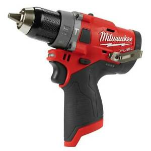 Milwaukee 2504 80 M12 12v 1 2 Fuel Hammer Drill Bare Tool Reconditioned