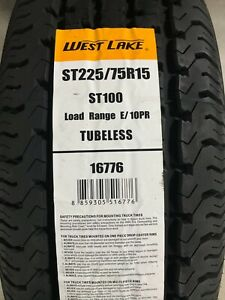 4 New St 225 75 15 Lre 10 Ply Westlake St100 Radial Trailer Tires