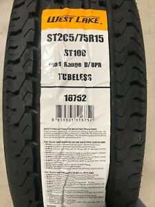 2 New St 205 75 15 Lrd 8 Ply West Lake St100 Radial Trailer Tires
