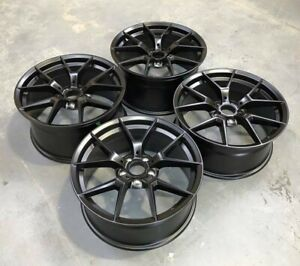 19x8 5 35 19x9 5 38 5x120 Black 19 Inch Wheels Fit Bmw 325 328 335 Z4 Rims