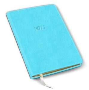 2021 Leather Desk Weekly Planner 192 Pages Open Format 8 x5 5 acadia Pool