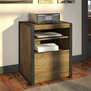 Carbon Loft Jannah Printer Stand File Cabinet In Rustic Brown Letter
