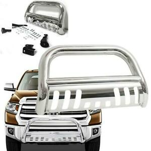 Chrome S s Front Bumper Bull Bar Grille Guard Fit 99 06 Toyota Tundra sequoia