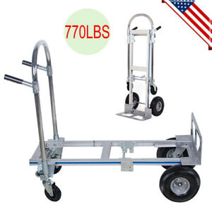 Cart Folding Dolly Push Truck Hand Collapsible Trolley Luggage Aluminium Us