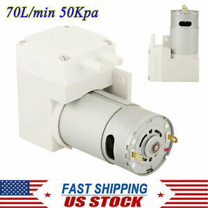 Dc 12v Noiseless Mini Vacuum Pump Negative Pressure Suction Pump 7l min 50kpa