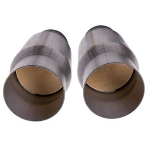 Set Of 2 3 Inch Universal Catalytic Converter High Flow Stainless Steel New