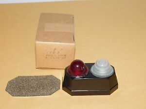 Vintage 3 3 4 High Red White Indicator Lights Unused In Box Nos