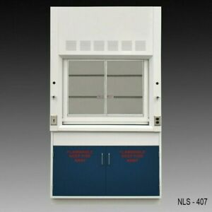 4 Chemical Bench Fume Hood Flammable Storage Blue Doors Quick Ship E1 200