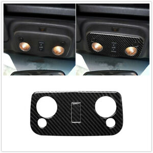 Car Carbon Fiber Front Reading Light Lamp Cover Trim For Ford Mustang 2009 2013