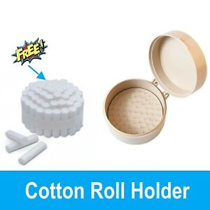 Cotton Roll Dispenser Holds 50 Cotton Rolls Comes With Free 50 Cotton Rolls