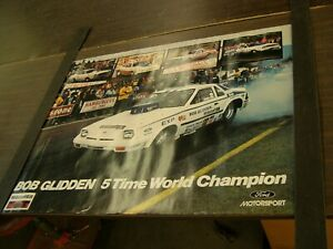 Nos Oem Ford Bob Glidden Dealership Display Poster Mustang Ii Pinto Fairmont Exp