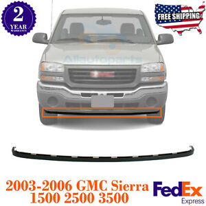 Front Lower Valance Extension Textured For 2003 2006 Gmc Sierra 1500 2500 3500