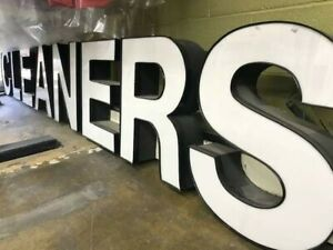 Led Illuminated Channel Letters Sign Front Store Business Two Sets