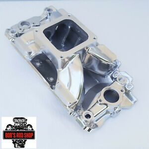 Big Block Chevy Polished Aluminum Intake Manifold 4500 Dominator High Rise 454