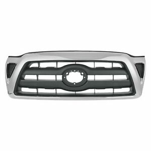New Chrome Grille Black Fits Toyota Tacoma 2005 2008 To1200268