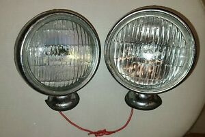 Ford Model A Aa Headlamps Buckets Bezels Westinghouse Bulbs