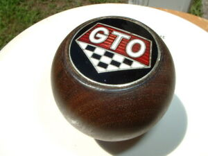 Vintage Pontiac Gto Walnut Factory 4 Speed Hurst Shifter Shift Knob Muncie Gm Oe