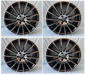 4pc 20 Sls Amg Style Staggered Wheels 5x112 Rim Fits Mercedes Brand New