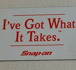 Snap On Tools Vintage Magnetic Tool Box Sign License Plate Nos 1994