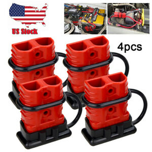 4x 175a Car Battery Quick Connect Disconnect Winch Connector 0 1 2 4 Gauge Cable