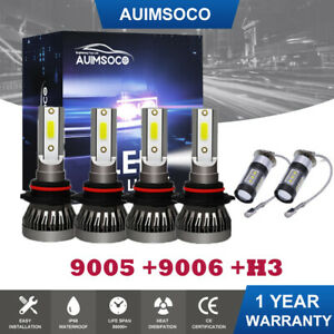 For Toyota Corolla 2001 2004 6x Led Headlight Hi lo Fog Light Bulbs Combo Kit