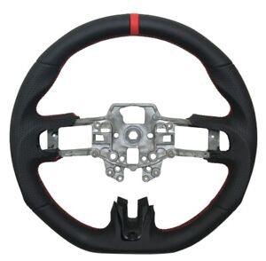 Revesol Black Sports Steering Wheel Red Strip For 2015 2017 Ford Mustang Gt New