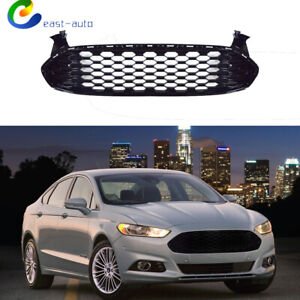 Fit For Ford Fusion 2013 2014 2015 2016 Front Grille Honeycomb Style Gloss Black