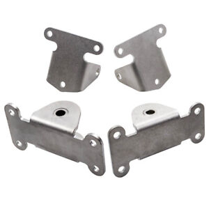Front 2pcs Engine Motor Mount And 2pcs Frame Mount Kit For Chevy Sbc 327 350 400