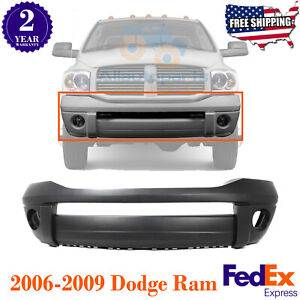 Front Bumper Cover Primed Paintable For 2006 2009 Dodge Ram 1500 2500 3500