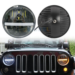 For Jeep Wrangler Headlights Set 7inch Round Led Drl White signal Amber