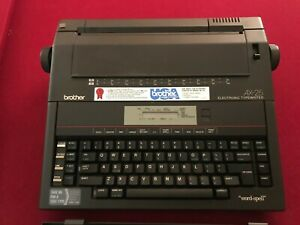 Brother Portable Electric Electronic Word spell Typewriter Ax 25 Usa Type Writer