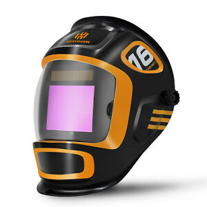 Solar Auto Darkening Welding Helmet Arc Tig Mig Mask Grinding Welder True Color