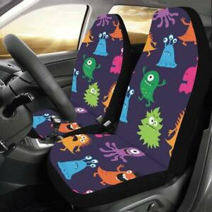 Monkey Purple Pattern Universal Fit Car Seat Covers Protectors Accessories
