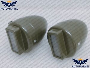 Jeep Willys Ford Military Blackout Cat Eye Marker Light 2pc