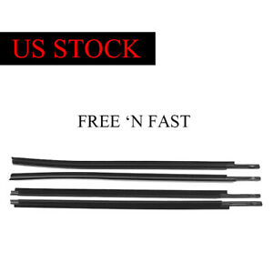 4x Window Moulding Weatherstrip Seal Belt For 2007 2018 Toyota Tundra Crewmax