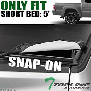 Topline For 2005 2015 Toyota Tacoma 5 Short Bed Hidden Snap Vinyl Tonneau Cover