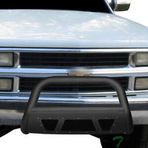 Topline For 1988 1993 Chevy gmc C10 C k Truck Studded Mesh Bull Bar matte Black