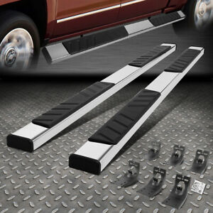 For 09 20 Dodge Ram 5 Extended Quad Cab Stainless Flat Step Bar Running Board