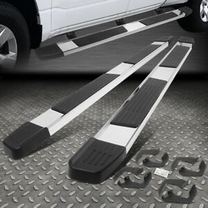 For 07 20 Toyota Tacoma 6 Crew Cab Stainless Flat Step Nerf Bar Running Boards